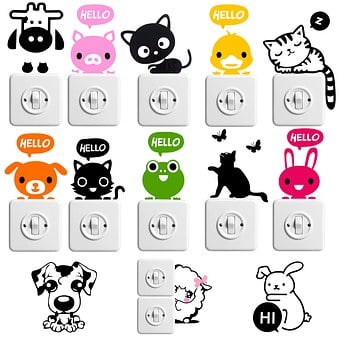 Sticker, Family, Hello, Light Switch, Funny, Animals