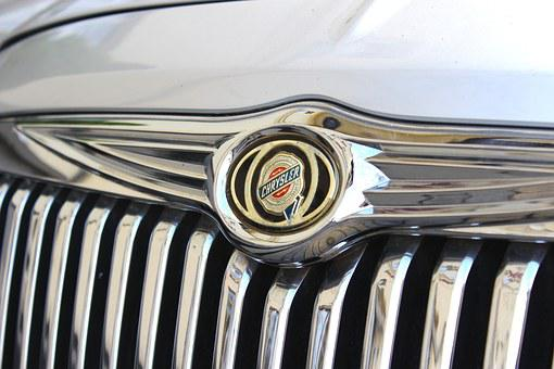 Chrysler, Auto, Car, The Vehicle, Wedding, Stamp, Logo