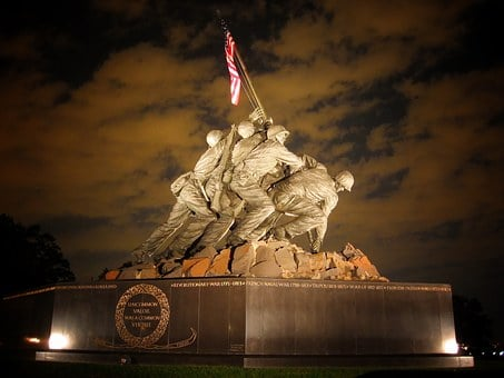 Marine Corps Memorial, Washington Dc, Statue, Landmark