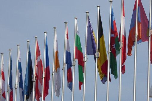 Eu, European Union, Flags, Strasbourg, Monetary Union