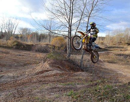Dirt Bike, Motorcycle, Jump, Autumn, Bike, Race, Speed