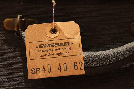 Luggage Tag, Old, Vintage, Retro, Suitcase, Label