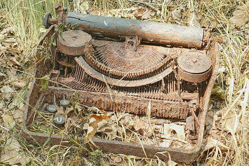 Old, Rots, Typewriter, Nature, Environment