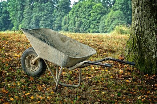 Wheelbarrow, Sliding Barrow, Work, Craft, Cart
