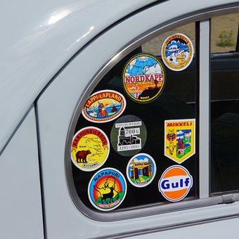 Sticker, Car Window, Character, Tourism, Souvenir, Glue