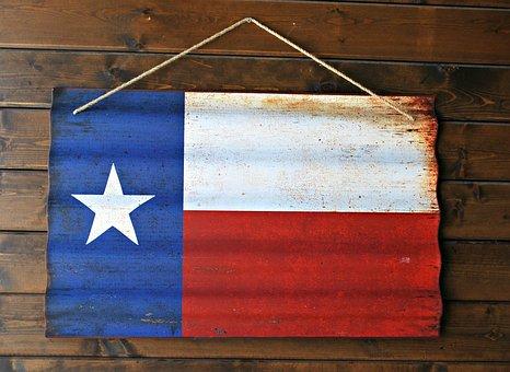 Flag, Texas Flag, Texas, Star, State, Red, Blue, White