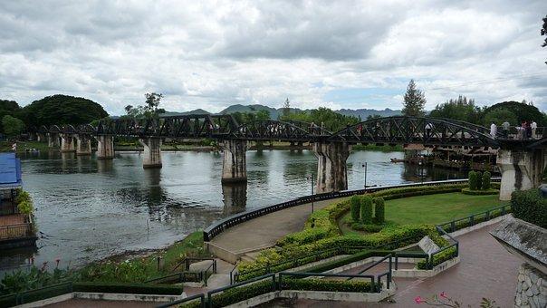 Bridge, River, Kwai, Landmark, Tourist, Attraction