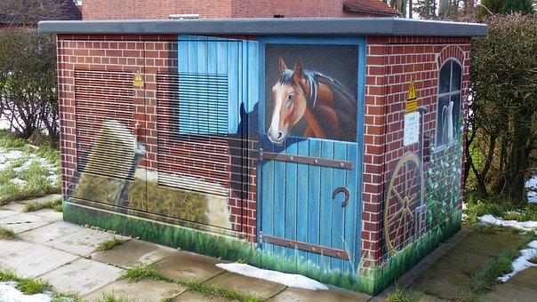 Transformer, Airbrush, Horses, Paint, Image, Animal