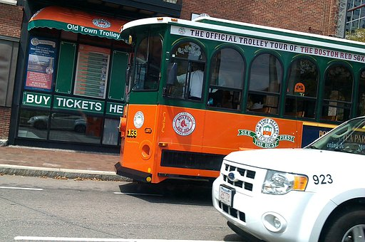 Trolley, Tram, Traffic, Car, Boston, Tourist Attraction