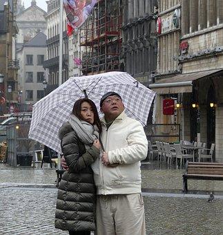 Torque, Happy, Relax, Rain, Umbrella, Together