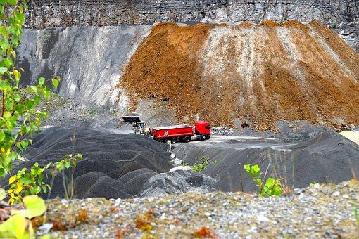 Quarry, Transport, Stones, Truck, Wheel Loader, Vehicle