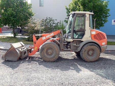 Construction Vehicle, Excavators, Wheel Loader, Vehicle