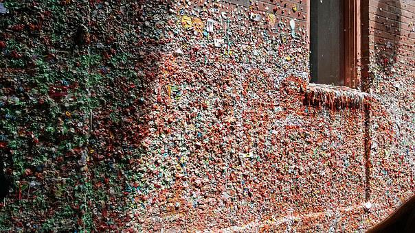 Gumwall, Gum, Wall, Bricks, Landmark, Tourist