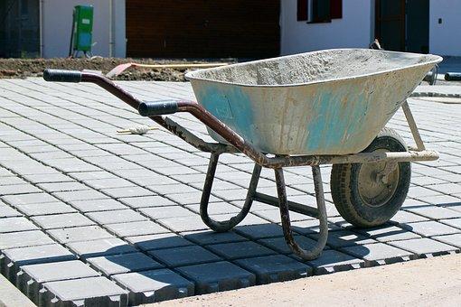 Construction Work, Wheelbarrow, Transport
