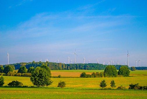 Ne, Summer, Wind Turbines, Forest, Puteshestkvie, Grass