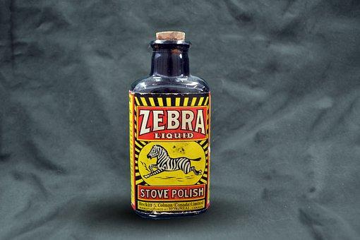 Graphic, Zebra, Bottle, Polish, Africa, Black, Mammal