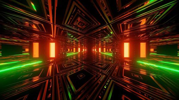 Tunnel, Wallpaper, 4k, 3d, Design, Artwork, Art, Sci-fi