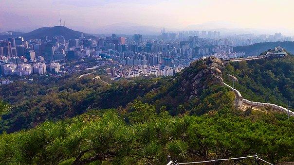 Korea, Seoul, City, Nature, Building, Architecture