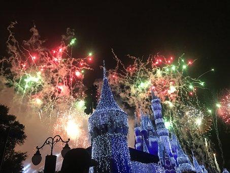 Disney, Orlando, Magic, Castle, Fantasy