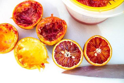 Blood Oranges, Fruit, Food, Half, Citrus, Healthy