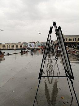 Rainy, See, Cloud, Exhibition, Picture, Painter