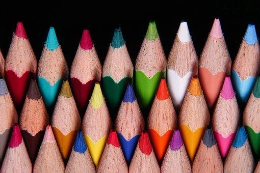 Pencils, Colorful, Colored Pencils, Multicolored