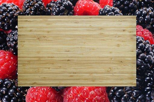 Background, Frame, Berries, Cutting Board, Design