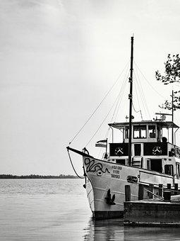 Ship, Dock, Lake, Moored, Nautical, Maritime, Boat