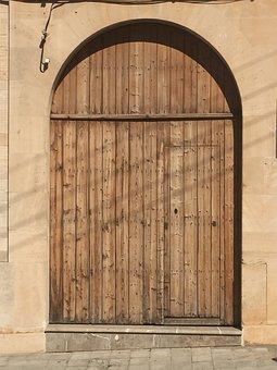 Goal, Door, Input, Gate, Wood, Portal
