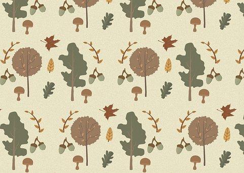 Autumn, Fall, Leaves, Acorns, Mushrooms, Autumn Season