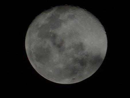 Night, Full Moon, White