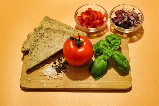 Bread, Ingredients, Food, Breakfast, Abendbrot, Tomato