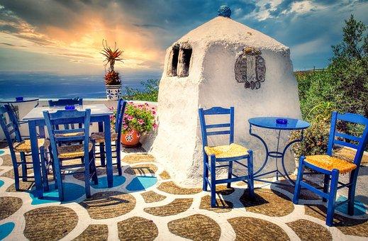 Terrace, Mediterranean, Restaurant, Outdoor Dining
