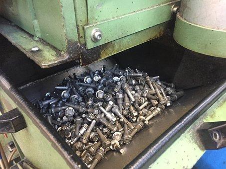Industry, Metal, Screw, Technology, Steel, Mechanical