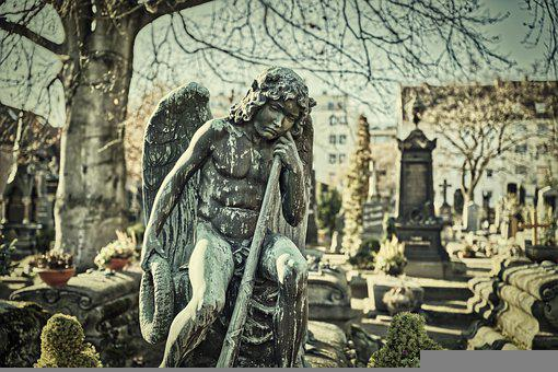 Cemetery, Resting Place, Mourning, Sculpture, Statue