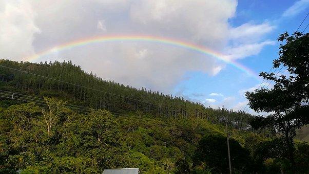 Nature, Rainbow, Sky, Blue, Scenic, Hill, Panamá, Coclé