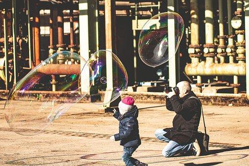 Photographer, Photo Shoot, Soap Bubbles, Child, Kid
