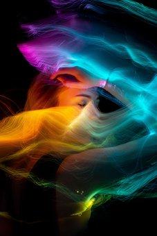 Woman, Light, Portrait, Smoke, Girl, Person, Pose