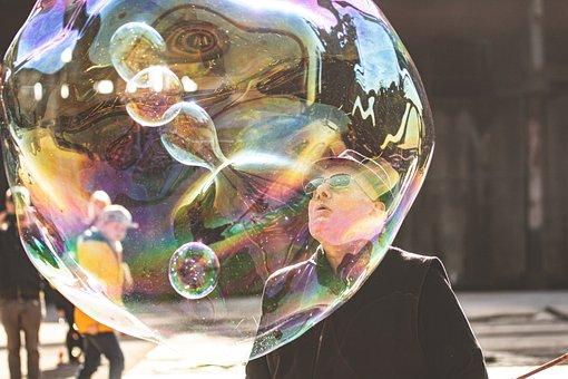 Soap Bubble, Magician, Man, Blow, Bubble, Reflection