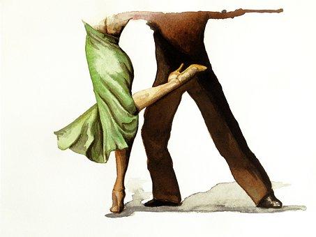 Tango, Dance, Dancers, Movement, People, Figure, School