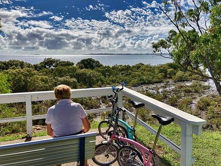 Elderly, Seat, Bikes, Bicycles, Bench, Sit, Sitting