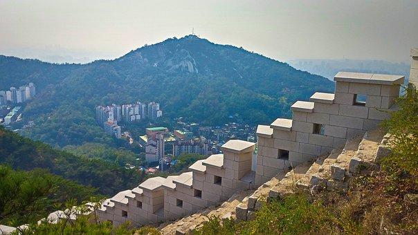 Korea, Seoul, Korean, Spring, Leaves, Building