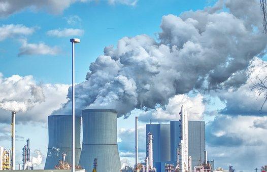 Power Plant, Factory, Industry, Steel, Building