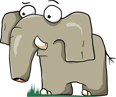 Elephant, Animal, Cartoon, Tusk, Trunk, Mammal