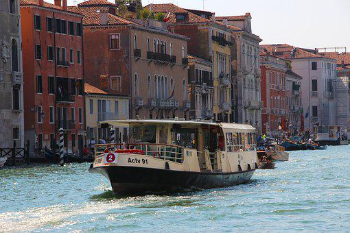 Boat, Gondola, Houses, Channel, Venice, City, Tourism
