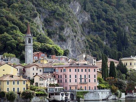 Houses, Village, Town, Buildings, Mountains, Townscape