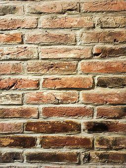 Brick Wall, Wall, Aged, Weathered, Grunge, Concrete