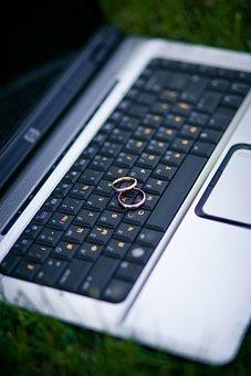 Wedding Rings, Rings, Keyboard, Wedding, Gold, Marriage