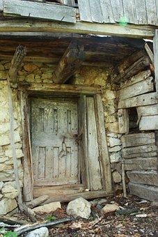 Building, Door, Abandoned, Mountain, Scenery, Outdoor