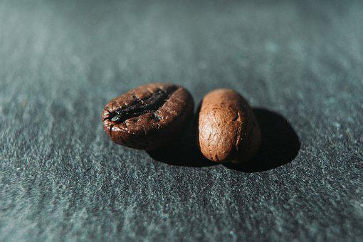 Coffee, Beans, Two, Macro, Caffeine, Aroma, Food, Cafe